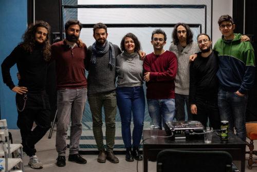 Lo staff Lacumbia Film a Incortiamoci di dicembre 2019 con Elena Beatrice e Daniele Lince